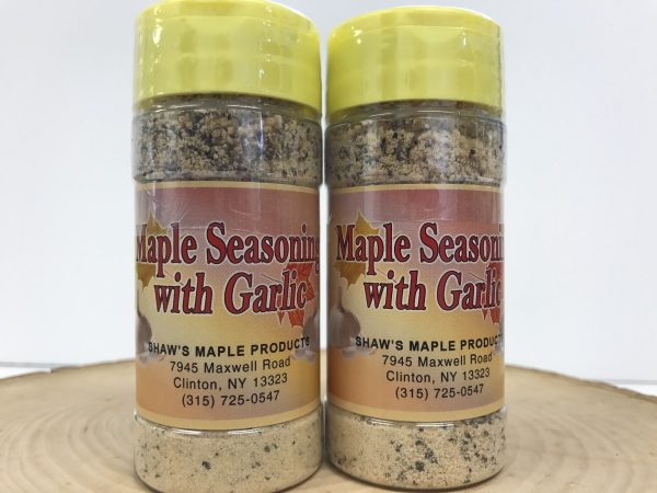 Two Containers of Maple Seasoning with Garlic