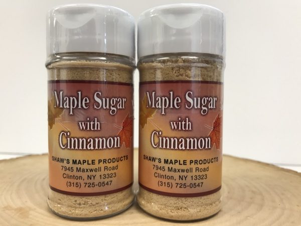 Two Containers of Maple Sugar with Cinnamon