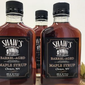 Three Bottles of Barrel Aged Maple Syrup