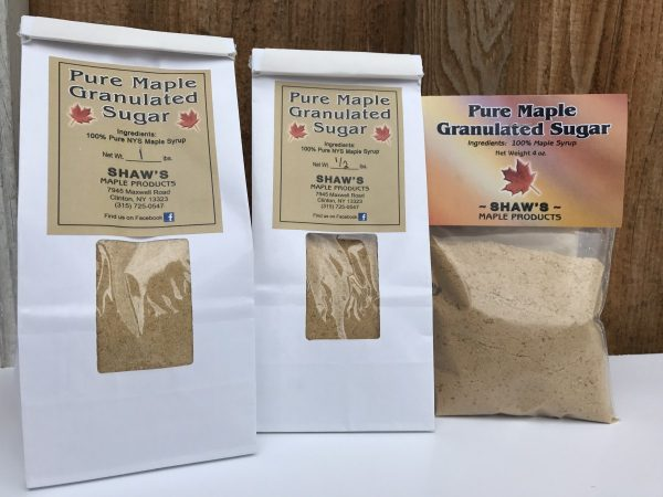 Packages of Pure Maple Granulated Sugar